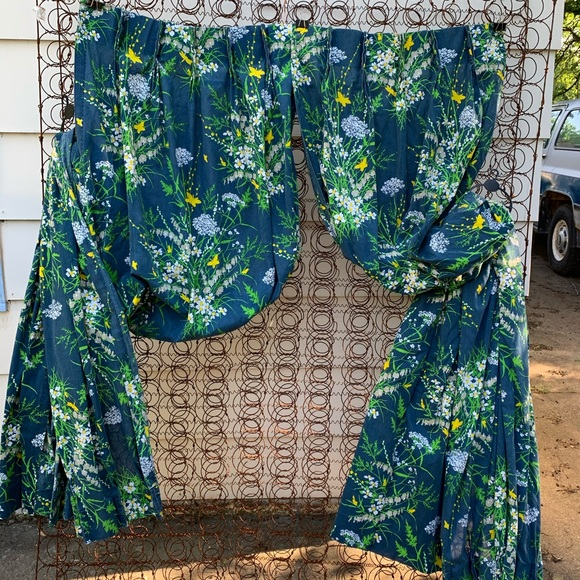 Vintage Other - Vintage JC Penney floral long curtains